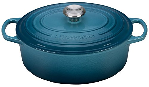 Oval Wide Oven (Le Creuset Signature Enameled Cast-Iron 5-Quart Oval French (Dutch) Oven, Marine)