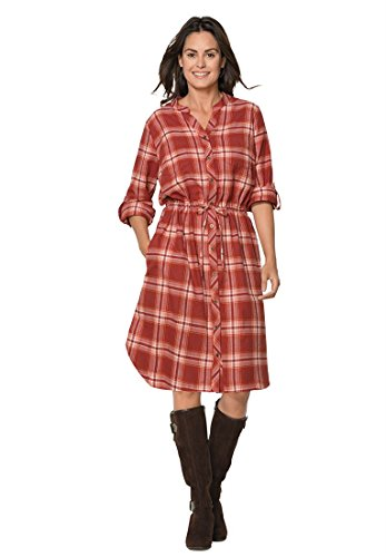 7c7598cf80a Woman Within Plus Size Flannel Shirtdress