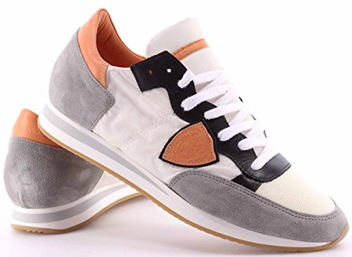 Chaussures Sneakers Hommes PHILIPPE MODEL Tropez Low World White Apricot Italy