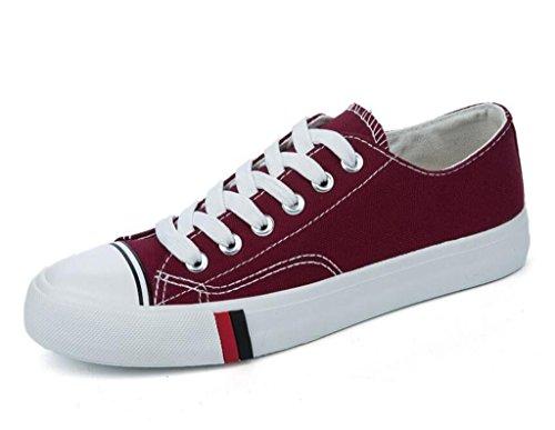 XIE Señora Zapatos Confortable Ocio Plano Plano Inferior Alumnos Escuela Compras Diario Cuatro Colores, Dark Green, 36 WINERED-39