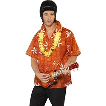 4a7c075fe02900 Elvis Blue Hawaii Shirt, Red, with Lei: Amazon.co.uk: Toys & Games