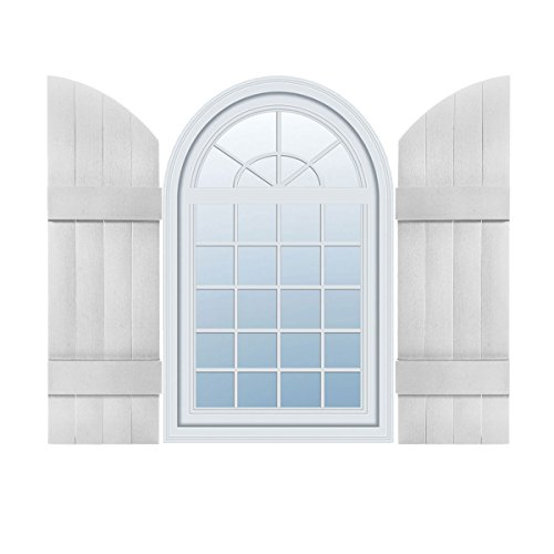 89 Inch Joined Board - Mid America 00331489001 Standard Size Four Board Joined w/Arch Top Shutter (Per Pair), 14