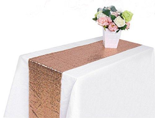 Champagne Or Rose Aliven 4 Couleurs De Soirée De Mariage Runner Table Sequin Décoration Ouvrants Bling 30 * 300cm (12 * 118)