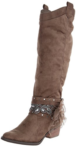 Not Rated Women's Midnight Dream Riding Boot,Taupe,9 M US