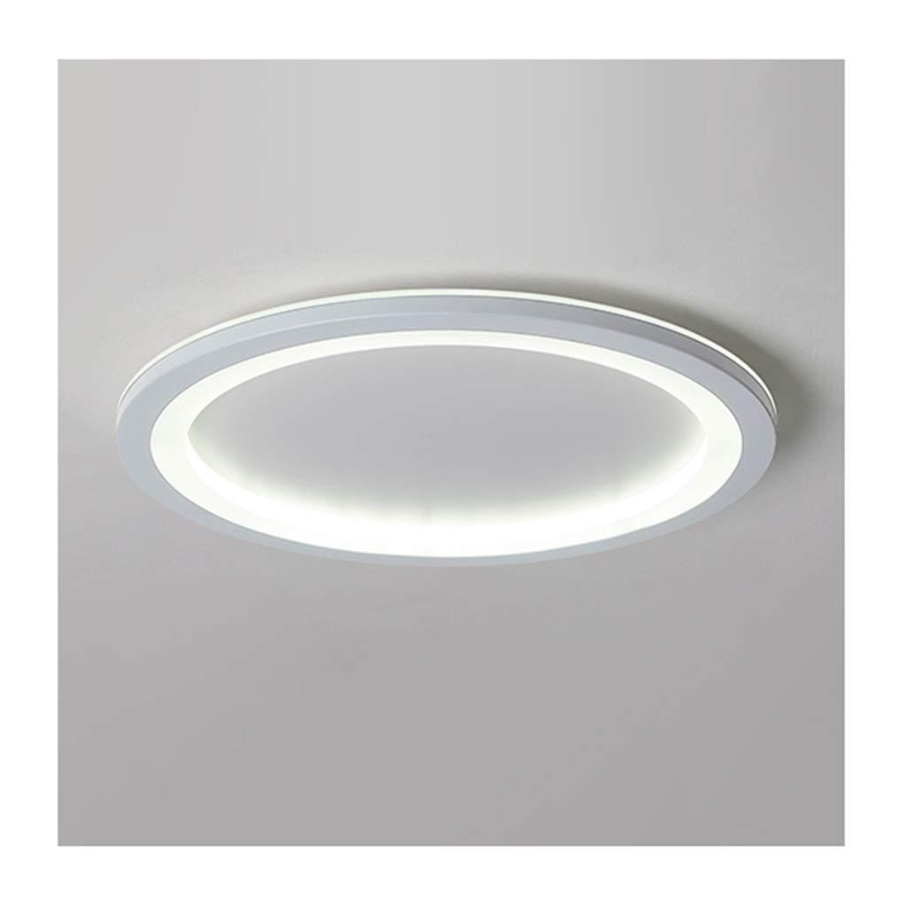 天井照明 シーリングライト - モダンシンプルラウンドホワイトシーリングランプled調光対応アイアンアクリルリビングルームベッドルームスタディホームインテリアオフィスホテル照明 シーリングライト (Color : White light, Size : 26cm) 26cm White light B07T7T88ZL