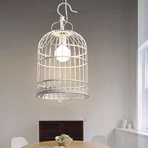 HQLCX Chandelier Nordic Country Restaurant Bar Cafe Bedroom Birdcage Iron Chandelier 250X480Mm by HQLCX-Chandeliers