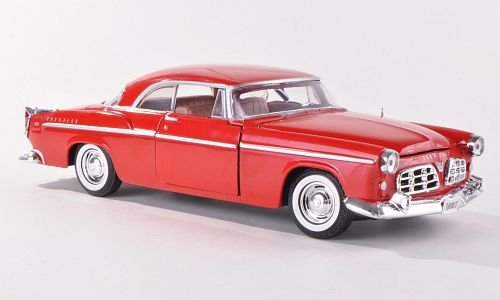 Chrysler 300 C, red, 1955, Model Car, Ready-made, Motormax 1:24