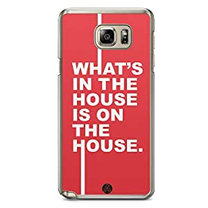 Designer iPhone Samsung Note 5 Tranparent Edge Case - What is in the house