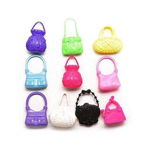(Potato001 10Pcs Mixed Mini Shoulder Bag Handbag Girl Kid Toy Accessories for)