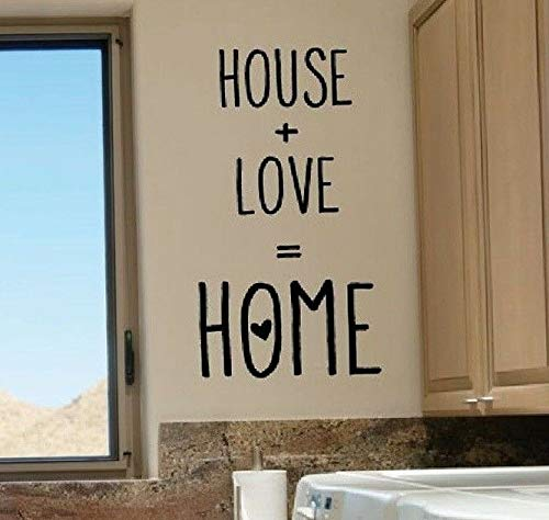 (Waldenn House + Love = Home Wall Words Lettering Quote Decal Sticker Rustic Decor   Model DCR - 1269)