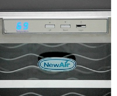 NewAir STAINLESS 12 Bottle Thermoelectric Wine Cooler w/ Temperature Control