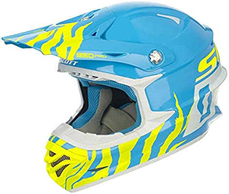Scott 350 Pro Race ECE - Casco Integral para Bicicleta, Color Azul ...