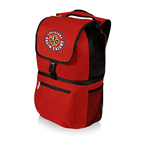 (PICNIC TIME NCAA Louisiana Lafayette Ragin' Cajuns Zuma Insulated Cooler Backpack, Red)