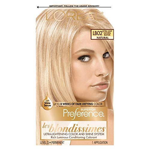 L'Oreal Superior Preference Les Blondissimes, LB02 Extra Light Natural Blonde (Natural) 1 ea (Pack of 2)