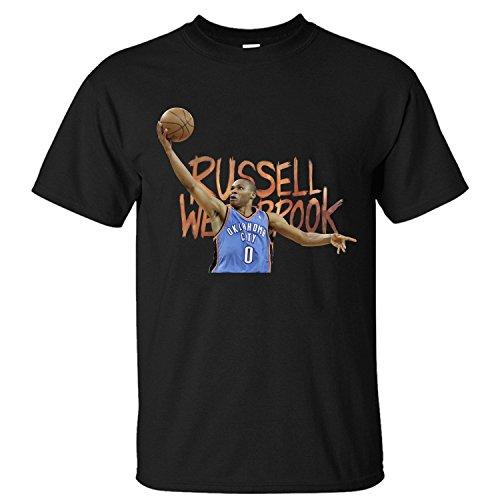 WDFO Russell Westbrook Basketball Custom Men T Shirt Cotton black - City Clothing Oklahoma Fr