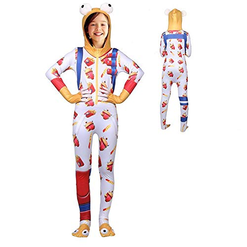 Glowintime Game Girl's Onesie Durr Burger Hooded Costume Children Halloween Cosplay Costume for $<!--$28.99-->