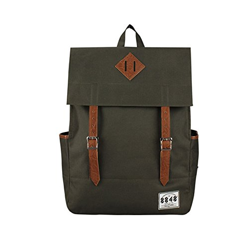 8848 Adult Survey Campus Backpack Polyester Big Volume Bag Army Green