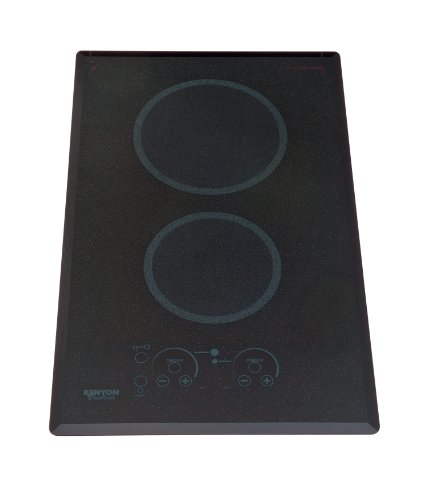 Kenyon B41540 6-1/2 and 8-Inch Lite-Touch Q 2-Burner Cooktop with Portrait Mounting Touch Control, 120-volt, Black (Portrait Top)
