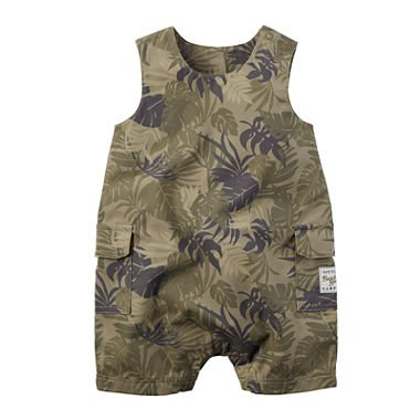 Carter's Baby & Toddler Boy's 1-Pc Sleeveless Rompers Shorts Camo (18 Months)