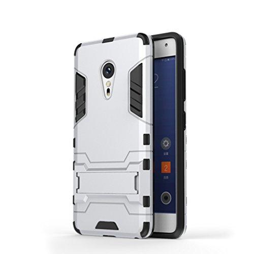 KaiTelin ZUK Z2 Pro Funda - 3 Capas Pistolera Combinada Prueba de Golpes [Protección Contra Caídas] Soporte Caso Duro de La Cubierta para ZUK Z2 Pro - Rojo Plata