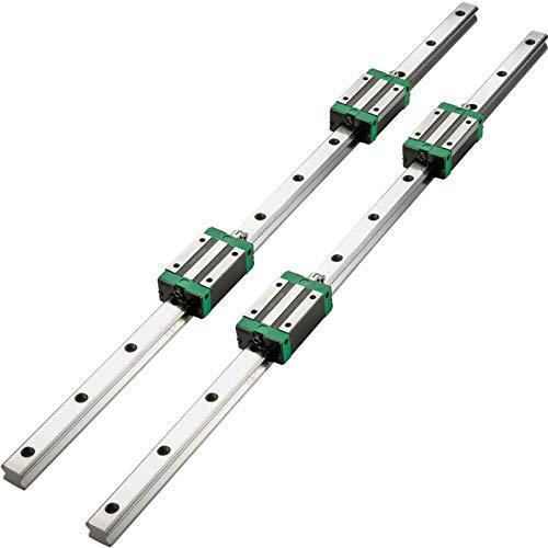 VEVOR 2PCS Linear Rail 0.79-39 Inch, Linear Bearings and Rails with 4PCS HSR20 Bearing Block, Linear Motion Slide Rails…