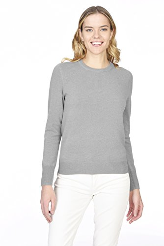 's 100% Pure Cashmere Long Sleeve Pullover Crew Neck Sweater ()