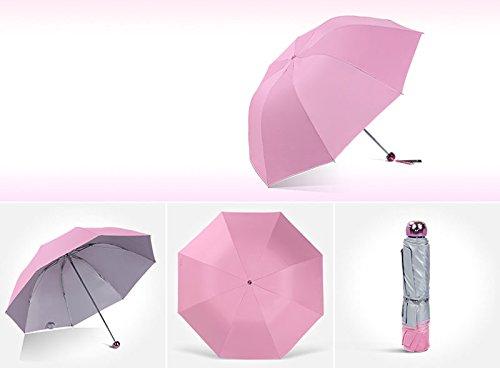 GYB Regenschirm Ultralight Fresh Sun Protection UV Sonnen Regenschirm Female Regen Regenschirm (Farbe : D) B 1WiO85M