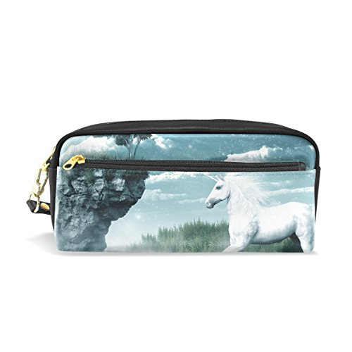 ColourLife Pencil Case Unicorn Misty Waterfall Pouch Bag Makeup Cosmetic Bag