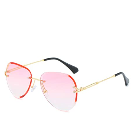 Yangjing-hl Gafas de Sol Recortadas sin Marco Degradado ...