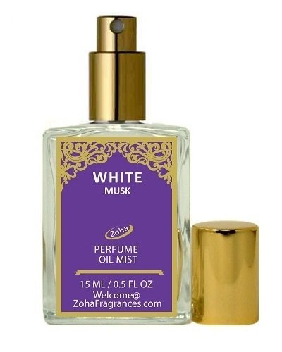 White Musk Scented Oil (White Musk Perfume Oil Mist (no Alcohol) White Musk Parfum by Zoha Fragrances, 15ml/0.5fl Oz)