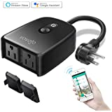 WIFI Outdoor Smart Plug Outlet Waterproof Wireless Power Strip Socket with Timer & Countdown, Compatible with Alexa, Google Home and IFTTT, Remote Control via Smartphone by VAVOFO