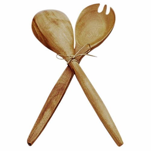 Pacific Merchants Acaciaware Fork and Spoon Serving Set, 10-Inch by Pacific Merchants Trading