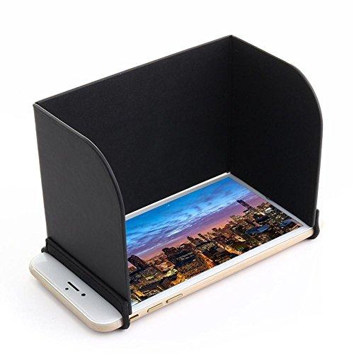 5.5inch Monitor Sunhood, Foldable Smartphone Sun Hood Cover Sunshade for DJI Phantom / Mavic pro / Inspire /M600 / OSMO / IPhone 6plus / 7plus (Skin Smartphone Iphone)