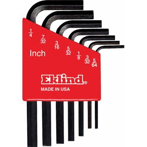 pack of 5 EKLIND 16224 3//8 Inch Bright Long Series Hex-L Key allen wrench