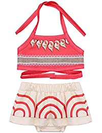 Rational 2019 Toddler Floral Bikini Set Kids Baby Girl Tanikini Suit Bowknot Flamingo Swimwear Beachwear Swimming 1-6y Swimwear