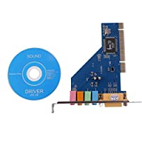 Easy Convenient to Use 4 Channel 5.1 15-pin Surround 3D PCI Sound Audio Card PC Windows XP/Vista/7