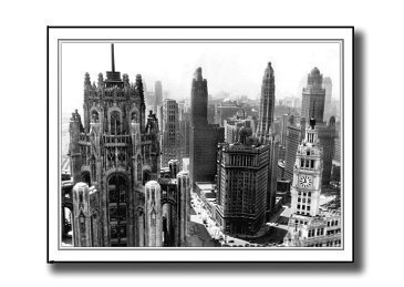 The Nice Card Company Towering Michigan Ave 500 Piece Jigsaw Puzzle by The Nice Card - Michigan Ave Stores