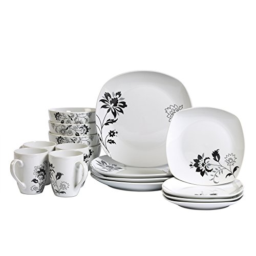 Tabletops Gallery Rebecca - 16 Piece Dinnerware Set, Service of 4