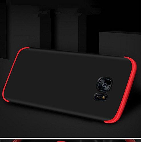 in gradi Ultra custodia plastica Custodia in Galaxy 360 Nero 1 Full S6 Rosso PC Edge Edge per S6 dura Galaxy PC Cover Case 3 Body Samsung Custodia Sottile Protettiva qZUAYRnZ