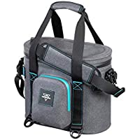 Monoprice Emperor Flip Portable Soft Cooler - 10 Can - Gray | Waterproof Exterior, IPX7-Rated Zippers Ideal for Camping, Fishing, BBQ - Pure Outdoor Collection