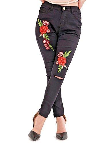 Rewatronics Donna Black Jeans Jeans Rewatronics Jeggings R6qwPRY