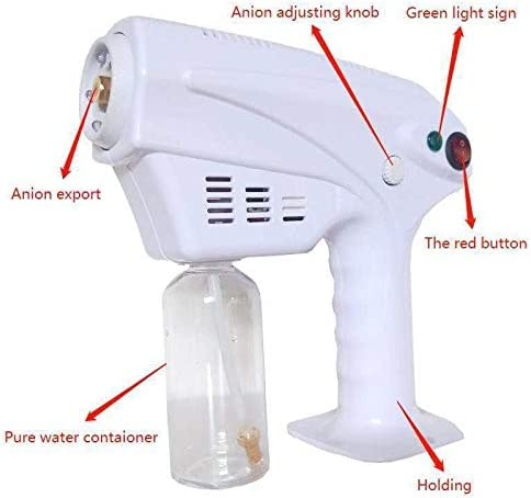 HSART Hair Face Steamer Ultra Fine Aerosol Water,Handheld Atomizer,Hair Care Spa Humidifier,Mist Trigger Sprayer