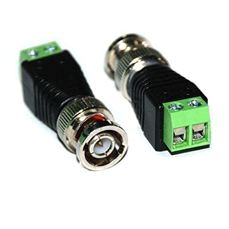 100 piezas Cat5 Cat6 UTP a coaxial BNC macho Conector Balun para CCTV cámara: Amazon.es: Electrónica
