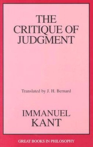 The Critique of Judgment (Great Books in Philosophy) pdf