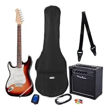 Kit Guitarra Eléctrica completo. Para Zurdos st-20lh SB Bundle: Amazon.es: Instrumentos musicales