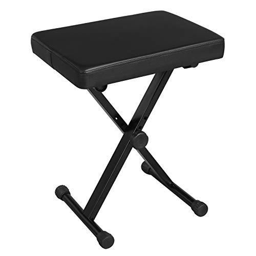Big Save! SONGMICS Adjustable Keyboard Bench, X-Style Padded Metal Piano Bench, Black ULPB40BK