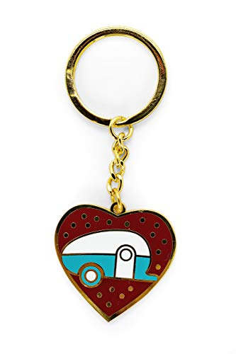 Camco Campsite Teardrop Keychain Gold 53287 product image