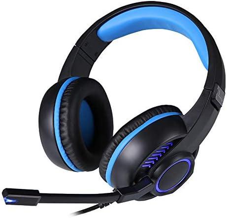 マイク付きサラウンドサウンドゲーミングヘッドセットPS4ヘルメットLEDライトボリュームコントロールノイズリダクションPS4 / PC/Xbox One/PSP/モバイル/タブレットパッド入