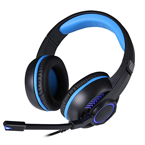 TAOXUE PS4 Headset, PC Gaming Headset Over-Ear Gaming Headphones with Mic LED Light Noise Cancelling & Volume Control…