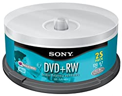 Sony 25dpw47rs2 Dvd Plus Rw Re-recordable Dvd 25-pack Spindle